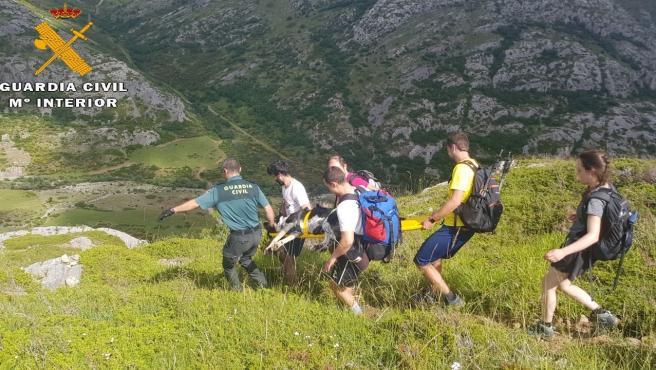 Rescatado un perro en el Espigüete (Palencia) tras romperse las patas traseras