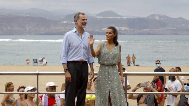 Los reyes Felipe y Letizia, este martes, en Las Palmas de Gran Canaria.
