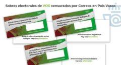 La Junta Electoral da la razón a Vox por los sobres que vetó Correos