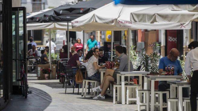 Una terraza de bar en Bilbao.