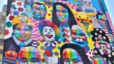 """El mural de la """"diversidad"""" de Fuenlabrada: George Floyd, Pikachu y Ralph Wiggum"""