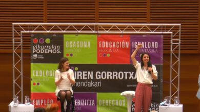 """Irene Montero en Euskadi: """"Que nadie os diga que es imposible un Gobierno de izquierdas en vuestro país"""""""
