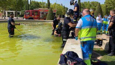 Muere un joven de 16 años succionado por una tubería de una fuente ornamental en Móstoles (Madrid)