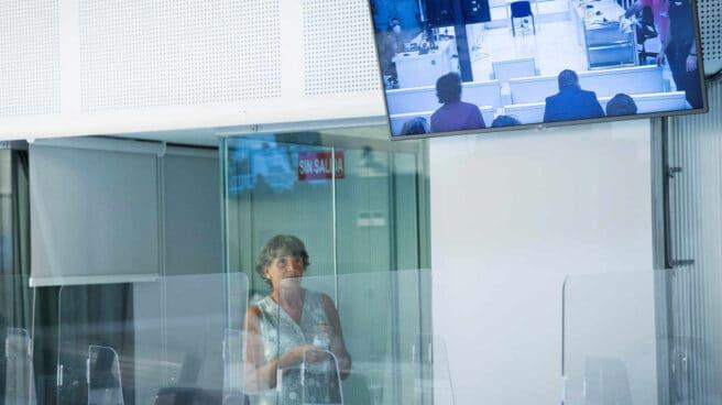 La exjefa de ETA, Soledad Iparragirre, alias 'Anboto', en la Audiencia Nacional.