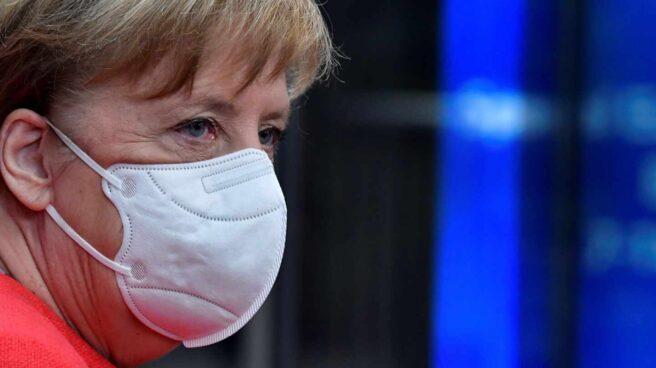 Angela Merkel, canciller de Alemania, asiste al Consejo Europeo de julio.