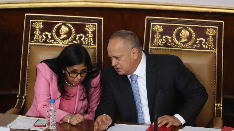 Cabello y Delcy Rodríguez