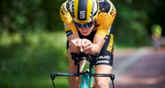 El ciclista neerlandés Gijs Leemreize (Jumbo-Visma)