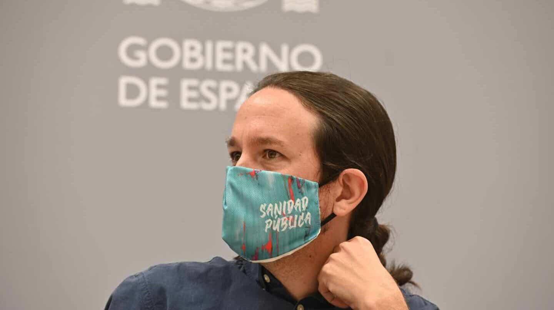 Pablo Iglesias en el acto 'Samuradipen' en reconocimiento a las víctimas del pueblo gitano.