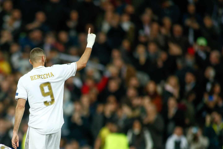 Benzema celebra esta temporada un gol ante el Galatasaray en la fase de grupos de la Liga de Campeones