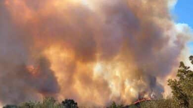 Así extingue el Ejército el incendio de Galicia