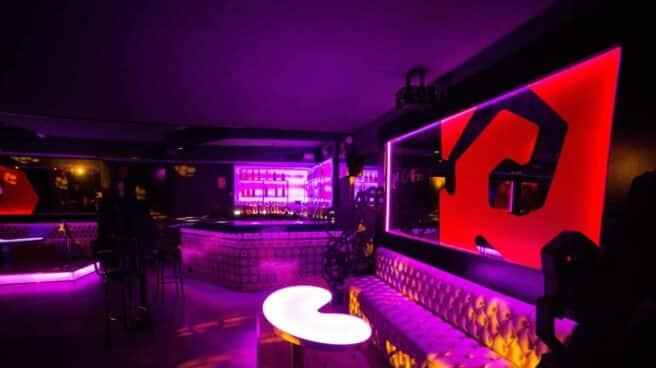 Interior de una discoteca de Madrid, vacía debido al coronavirus.