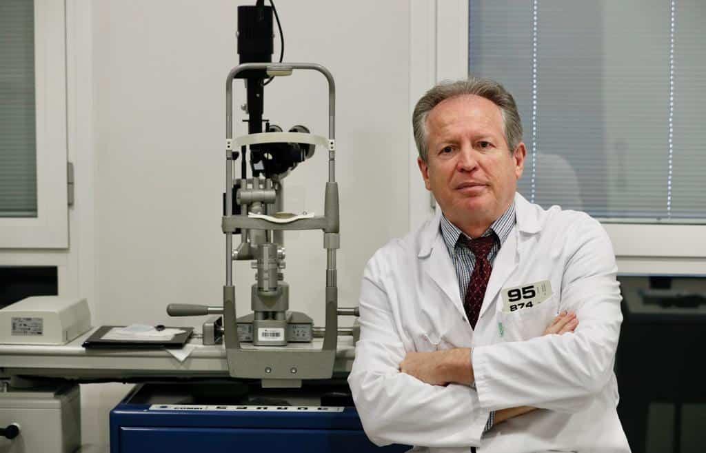 El oftalmólogo J. Ignacio Guerrero, presidente de Unipromel.
