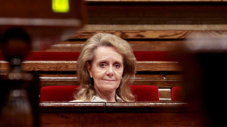La consejera de Cultura de la Generalitat, Mariàngela Vilallonga, en el Parlament.