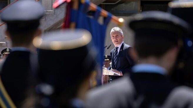 El ministro del Interior, Fernando Grande-Marlaska, en un acto oficial de la Policía Nacional.