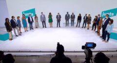 El show de Puigdemont, Torra y Jordi Sánchez para la fundación de JxCat