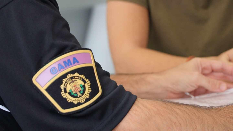 Agente del grupo GAMA de la Policía Local de Valencia.