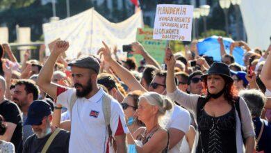 Los identificados en la manifestación antimascarillas se enfrentarán a multas de hasta 30.000 euros