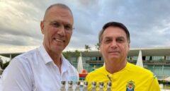 Bolsonaro recibe al embajador de Israel con una camiseta de la UD Las Palmas