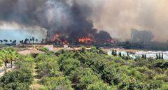 Pánico en el incendio del complejo Laguna Village de Estepona