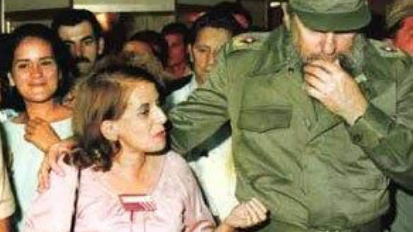Hilda Molina y Fidel Castro