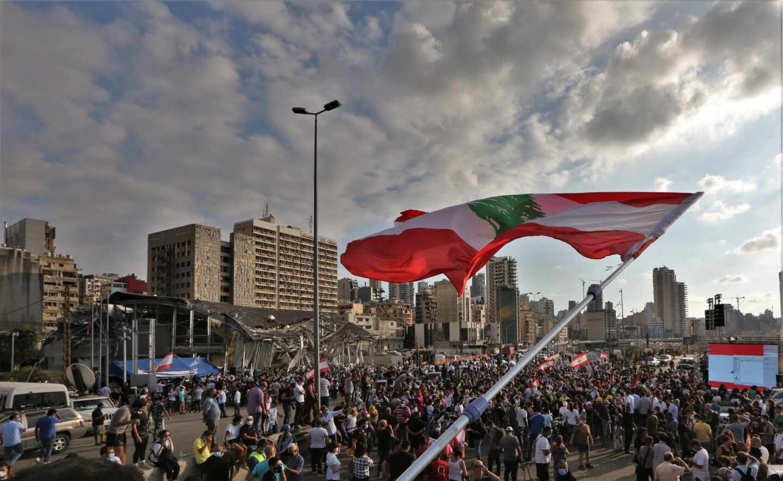 Líbano puerto homenaje víctimas