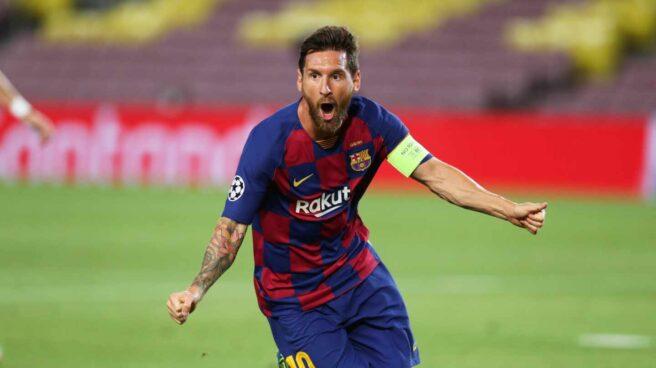 Lionel Messi celebrando un gol