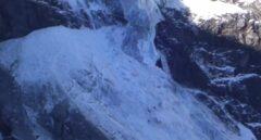 Colapso del glaciar en Suiza.