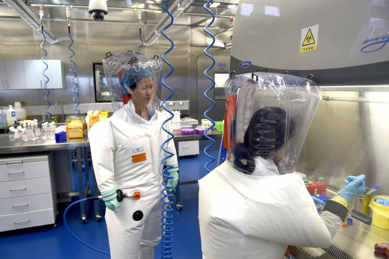Investigadores del Instituto de Virología de Wuhan.