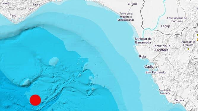 Registrado un terremoto de 4 grados con epicentro en el Golfo de Cádiz