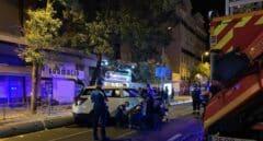 Atropello múltiple de un taxi en una terraza de Madrid: una muerta y siete heridos