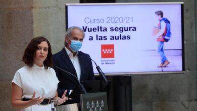 Madrid dice que el Gobierno intentó frenar el anuncio de la 'vuelta al cole' de Ayuso
