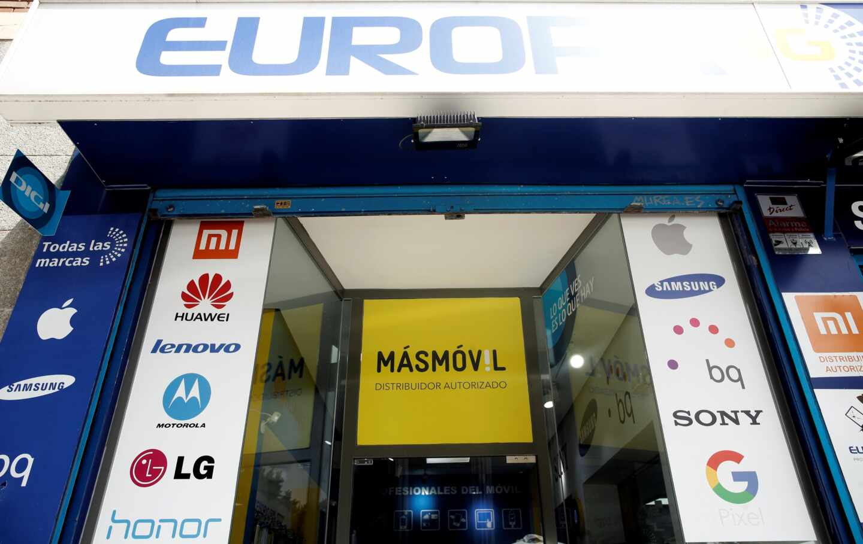 Tienda de telefonía en que se comercializan tarifas de MásMóvil y de Digi.