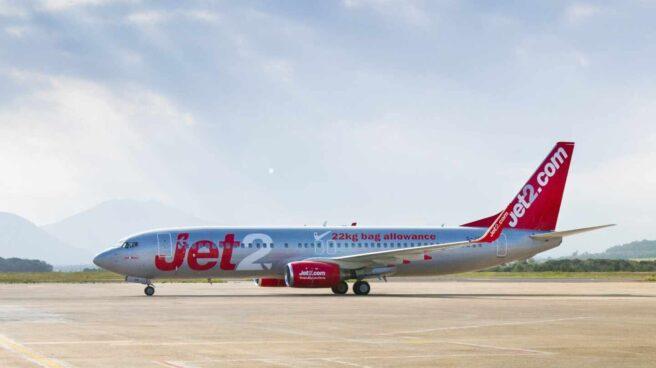 Un avión del grupo turístico británico Jet2.
