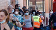 Cribado aleatorio de pruebas PCR realizado este sábado, en Móstoles.