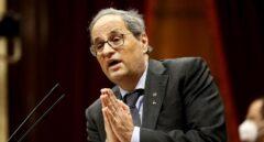 El Parlament rechaza la posible inhabilitación de Torra por el Supremo