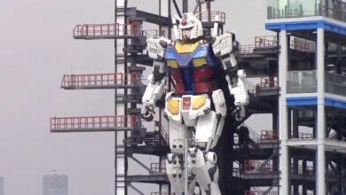 Un robot de 20 metros da sus primeros pasos en Tokio tras seis años de trabajo