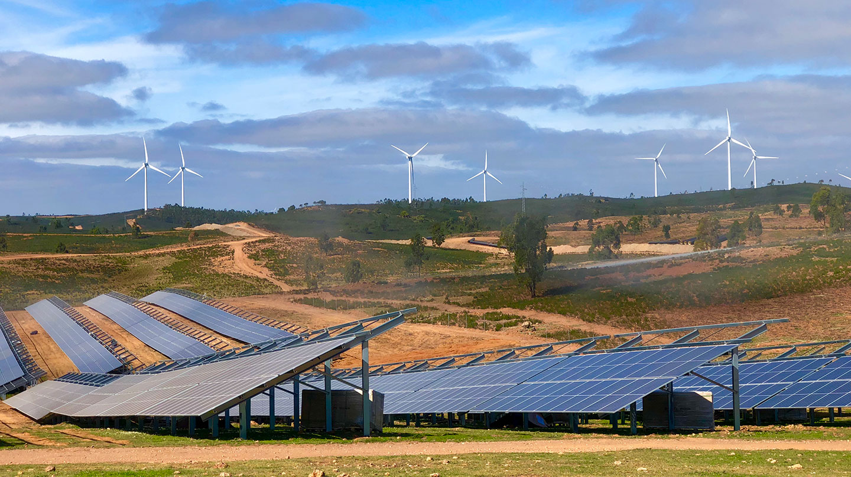 La planta fotovoltaica Andévalo, en Huelva, de Iberdrola.