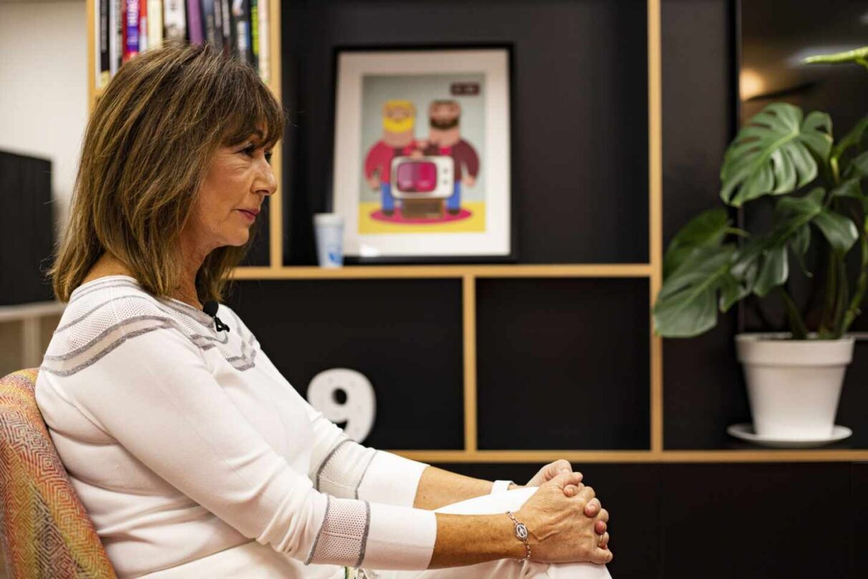 La presentadora Ana Rosa Quintana, durante la entrevista con El Independiente en las oficinas de su productora