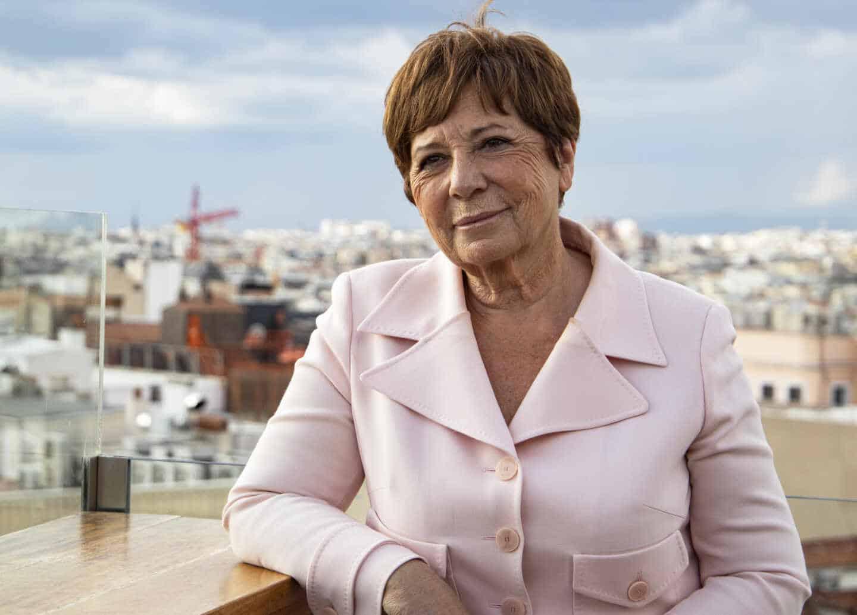 La ex ministra Celia Villalobos, durante una entrevista con El Independiente en la terraza del hotel H10 de Madrid