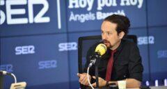 El vicepresidente segundo, Pablo Iglesias, entrevistado en 'Hoy por hoy' de la Cadena Ser.