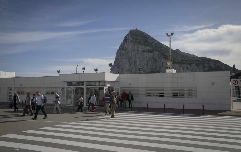 Paso de aduana del paso entre Gibraltar y La Línea de la Concepción, Cádiz.