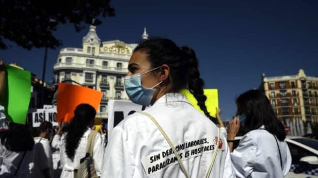 Manifestación de médicos en Madrid
