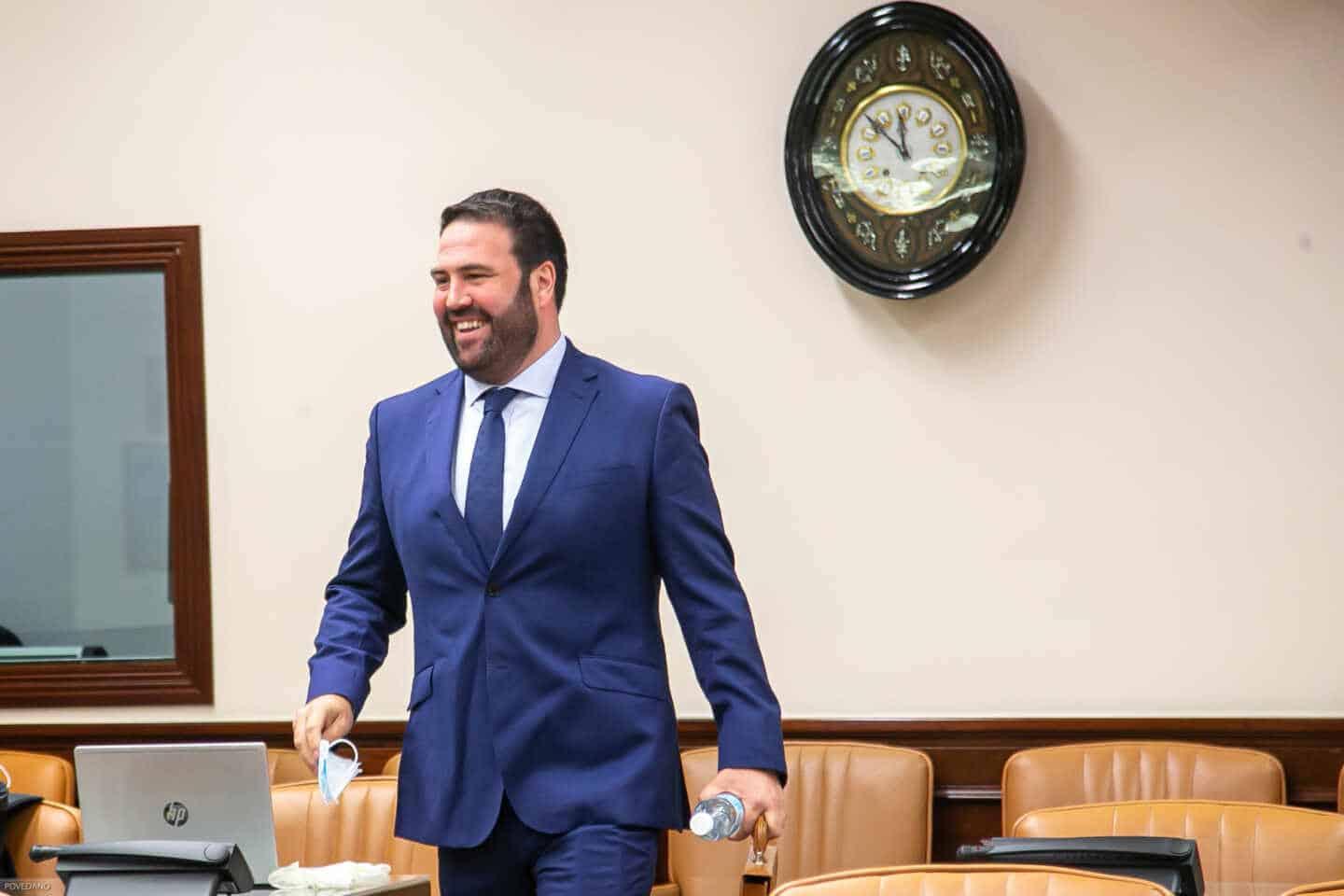 El diputado de EH Bildu Jon Iñarritu, en la comisión de Interior.