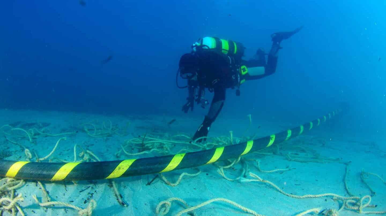 Cable submarino de Red Eléctrica de España.
