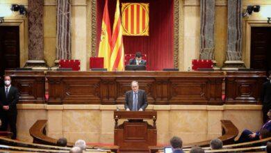 Torra se despide en el Parlament comparando España con Turquía