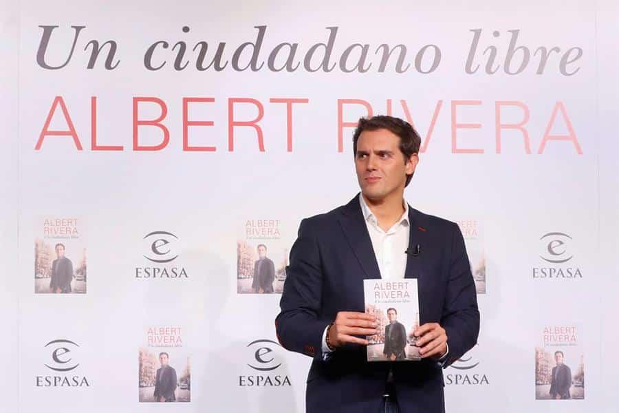 Albert Rivera, en la presentación de su libro 'Un ciudadano libre'.