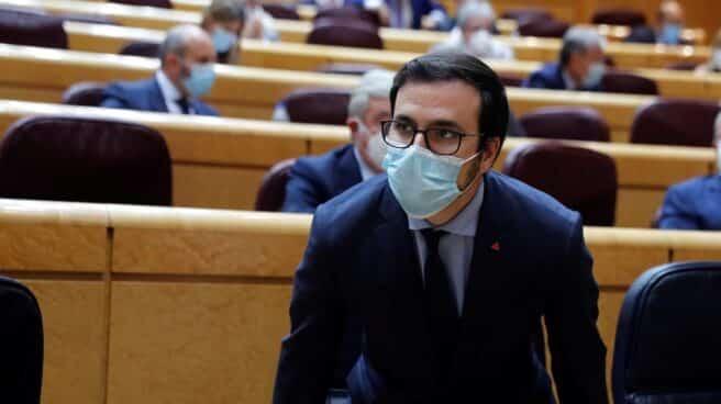 El ministro de Consumo Alberto Garzón, en el Senado.
