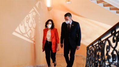 Díaz Ayuso pidió a Sánchez que el PSOE rebajara la tensión contra su gobierno