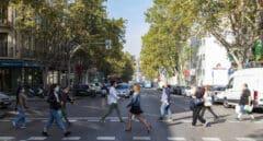 Calle de Alcalá, frontera invisible del coronavirus en Madrid