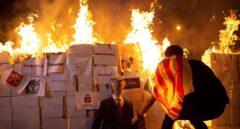 Los CDR queman la imagen del Rey en una manifestación no autorizada